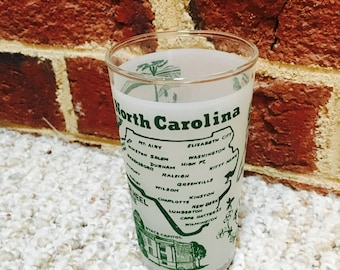 North Carolina State Vintage Souvenir Drinking Glass