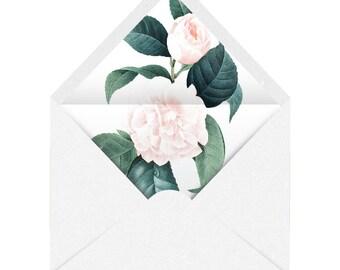 Printable Envelope Liner   Vintage Floral The Dutchess   11 Sizes   Envelope Template, DIY Wedding, Printable Invitation