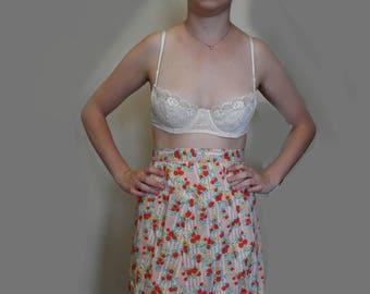 Original 1970s Summer Skirt (26 Inch 66cm Waist)