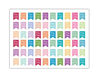 Payday Flag Planner Stickers, Sticker Sale, Matte Glossy, 0284