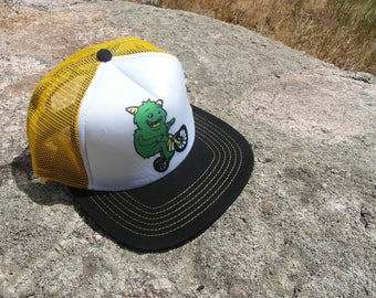 Mountain Bike Monster- Kids Trucker Hat. Inspired by Youth and Designed in Colorado!