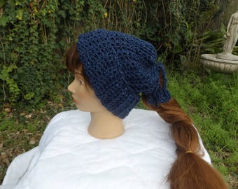 Two for One Hat and Cowl in blue
