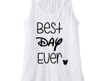 Best Day Ever Tank, Disney Fan tank, Disney World tank, Disney tank, Tangled tank, Rapunzel tank, disney womens tank