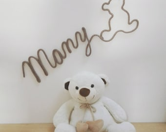 Name of knitting with shaped bear - choose colors