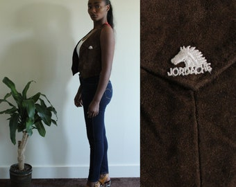 90's Vintage suede Jordache vest
