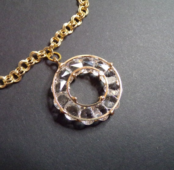 "Large circle (2"") pendant with chain"