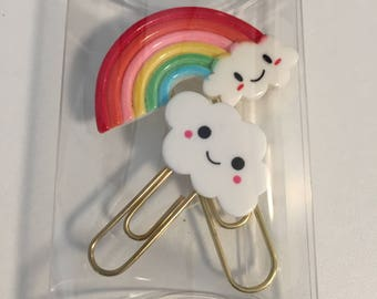 Rainbow and Cloud Paperclips