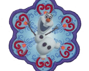 Frozen Olaf the snowman patch badge