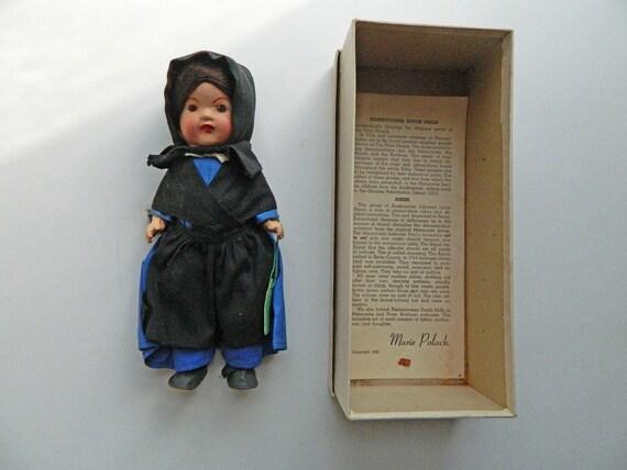 Marie Polack 1936 Pennsylvania Dutch Doll in Original Box