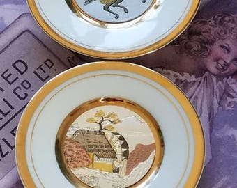 Set of 2 Small 24K Gold Plates!