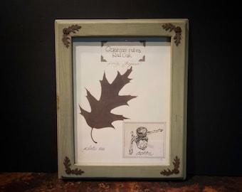 Framed Red Oak Leaf Print