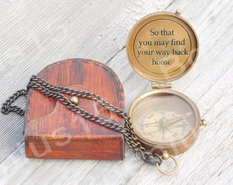 Personalized Compass, Engraved Compass, Compass, Working Compass, Birthday gift, Groomsmen Gift, Anniversary Gift, Custom Gifts, Fathers Day