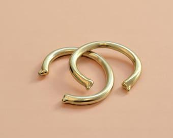 Mercury cuff bracelet, raw brass, drop edges, melted metal, heavy metal cuff, studio baladi, unisex cuff bracelet, tribal, Christmas gift