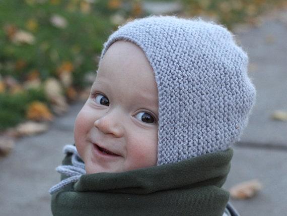 Baby Hat Knitting Pattern Baby Bonnet Easy Knit Baby Hat