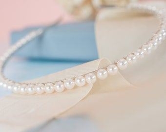 Pearl Bridal Headband, Pearl Headband, Bridal Headband, Wedding Headband, Bridesmaid Headband, Handmade Pearl Headband, Pearl Tiara
