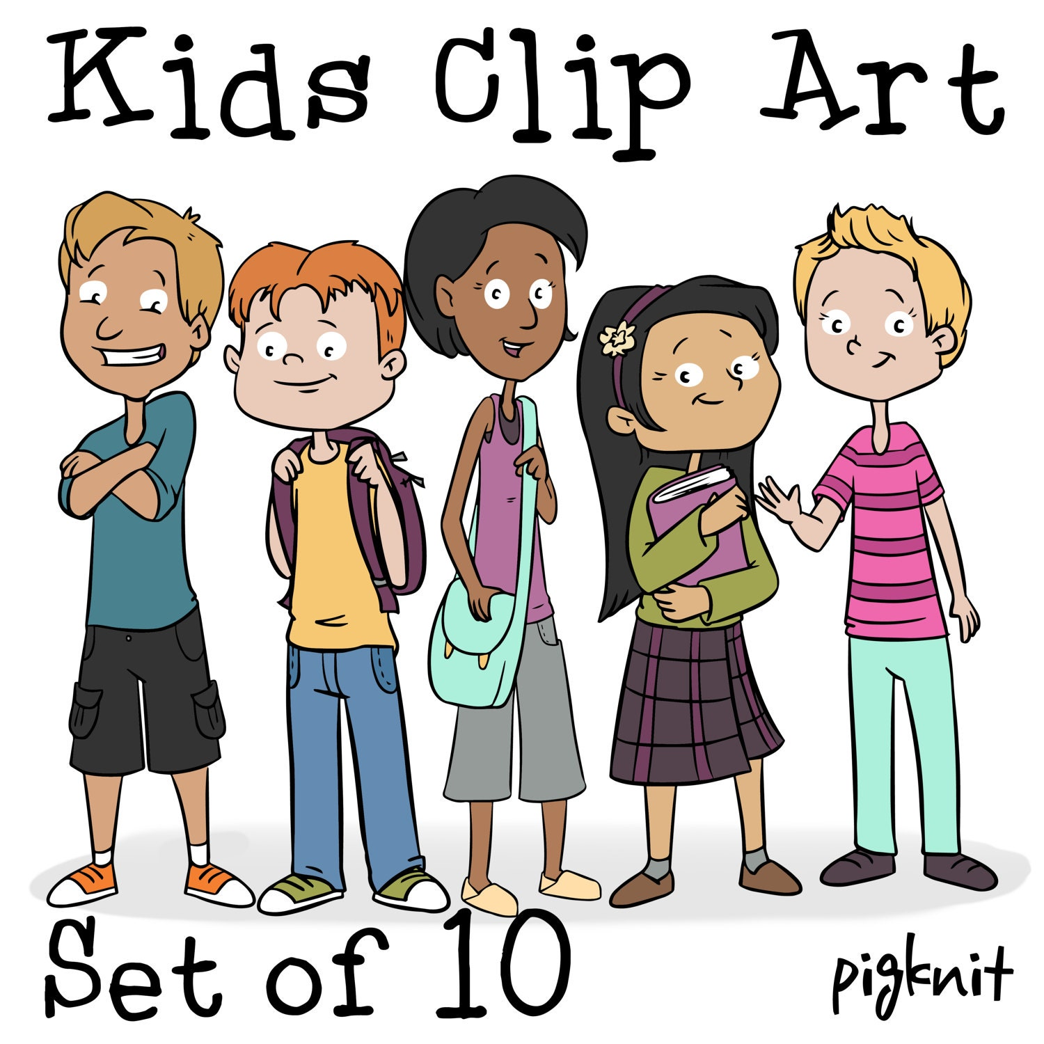 kids clip art png cartoon kid download middle school clip rh etsy com middle school clipart free middle school clipart images