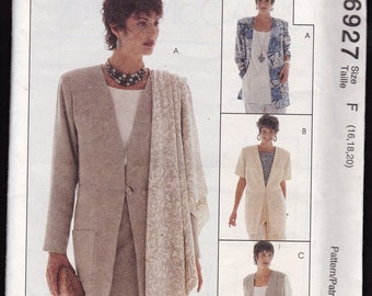 McCall's 6927 The Woman's Day Collection, Misses' Unlined Jackets and Scarfs