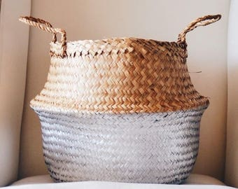 Belly Basket Gold or silver dipped size m or L