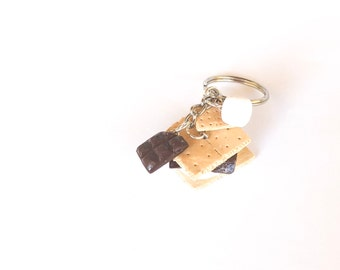 S'more - Miniature Food Polymer Clay Keychain