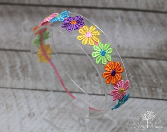 Pastel Daisy Chain Headband - Photo Prop - Baby Headband -  Girl Headband - Teen Headband -  Adult Headband - Boho Headband