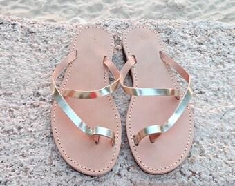 Sandals, gold sandals, wedding sandals, Greek sandals, leather sandals