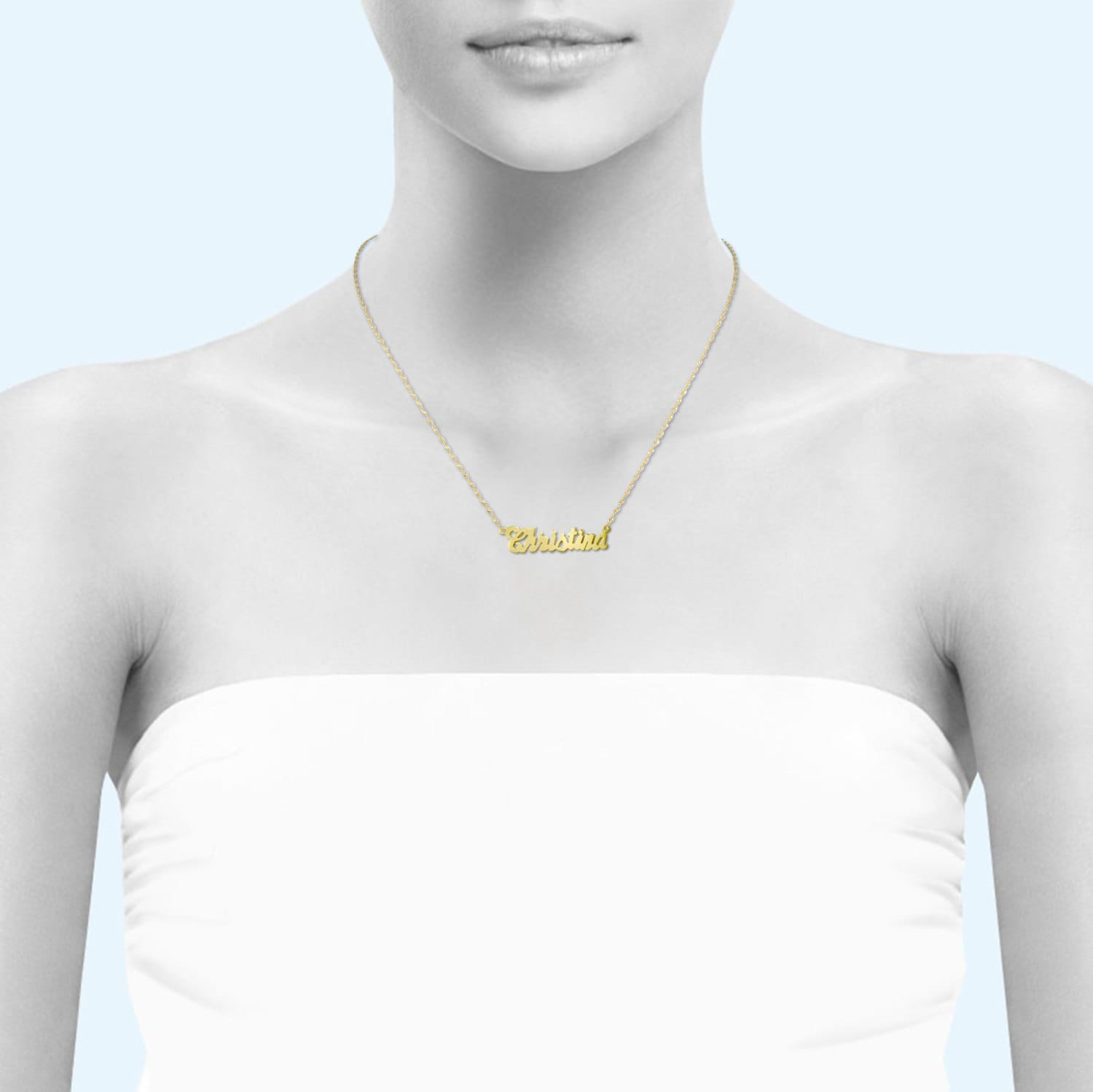 img necklace cursive of trendy statements product name image