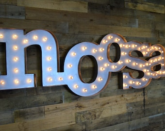 Retro Marquee Letter SET, Business Sign, by FosterWeld - Price includes shipping