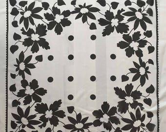 Silk scarf Lolita l Haute Couture - 58cm x 58cm - 85cm x 110cm base print.