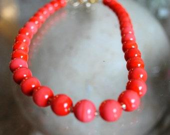 Handmade Vintage Glass Bead Necklace