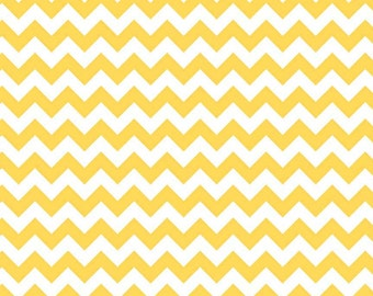 Riley Blake, Small Chevron, Yellow and White, fabric by the yard