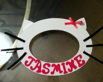 Personalized Hello kitty inspired picture frame