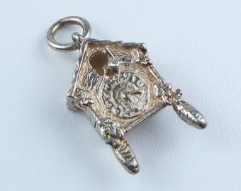 Silver bracelet charm - cuckoo clock