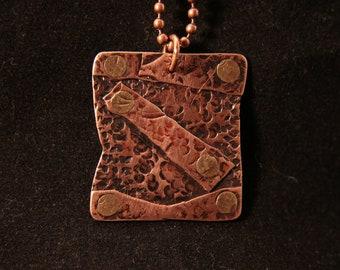 Handmade Copper Pendant