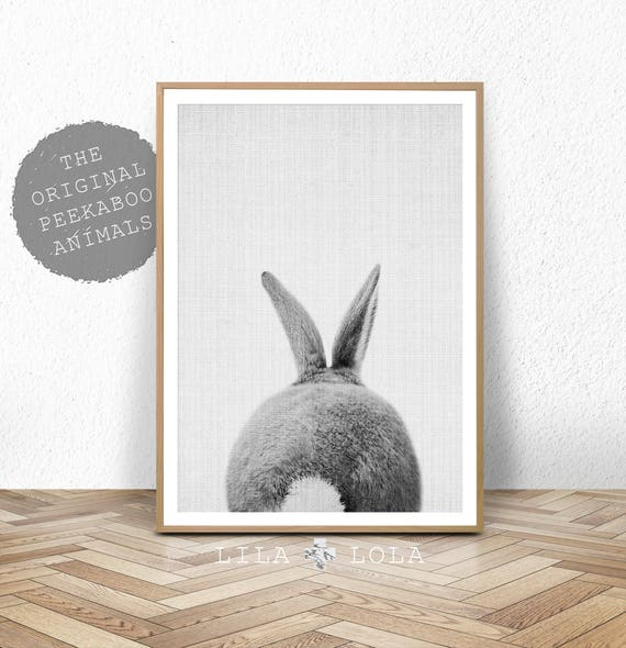 Rabbit Tail Print Woodland Baby Shower Decor Bunny Butt
