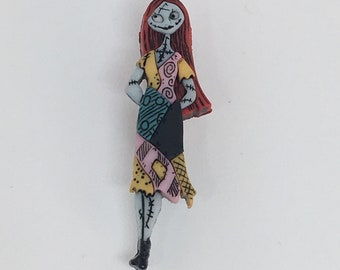 Nightmare Before Christmas Plastic Sally Bar Pin
