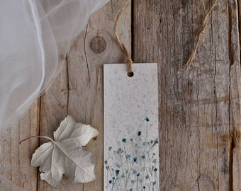Bookmark with flowers hand painted watercolor