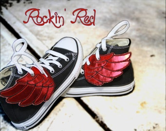 Rockin' RED Shoe Wings )( Get your Shoe Shinez ON )(