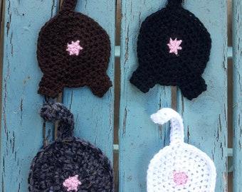 Cat Butt Crochet Coasters