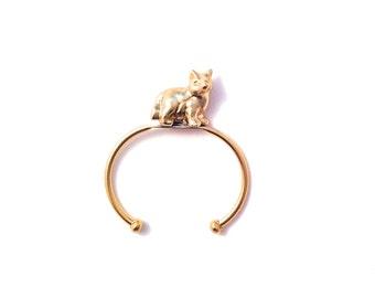 Brass Fox Cuff