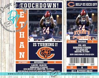 Chicago Bears Football Invitation