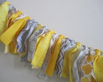 Yellow and Grey Cloth Banner Birthday Party Photo Backdrop