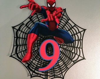 Spiderman Cake Topper, spiderman Centerpiece,Spiderman Birthday Banner, Spiderman Birthday Cake Topper,Personalized Cake Topper,Spiderman