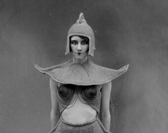 ROBOT ALIEN tenue--Feutrée à l'aiguille / costume / feutrée à la main / laine / humide / madonna / bizarre / alien / robot / sci - fi / métropole / ooak