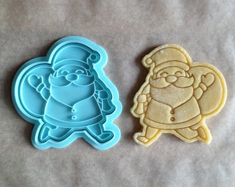 Santa Claus cookie cutter. Christmas cookies. New Year gift