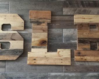 "Rustic Wedding Decor, Huge wooden letters, 20"" letters, 24"" letter, monogram, reclaimed pallet wood, pallet letters, pallet wall art"