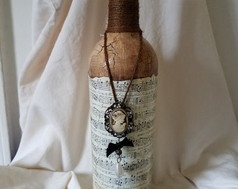 Hand made vintage looking bottle