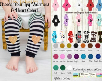 Baby Leg Warmers Girl, Baby Girl Clothing, Newborn or Toddler Leg Warmers, Baby Leggings LegWarmers Socks Hearts - Customize Your Own