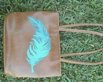 Blue Feather Purse