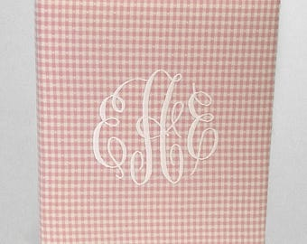 Baby Memory Book in Gingham Cotton