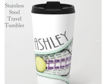 Lacrosse Travel Mug-Lacrosse Travel Cup-Travel Mug-Stainless Steel Tumbler-15 oz Tumbler-Lacrosse Mug-Insulated Travel Mug-Custom Mug